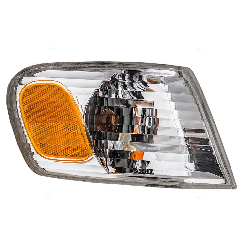 コーナーライト New Passengers Park Signal Amber & Clear Lamp Unit for 01-02 Toyota Corolla 新規乗客パーク信号アンバー& トヨタカローラ01-02用クリアランプユニット