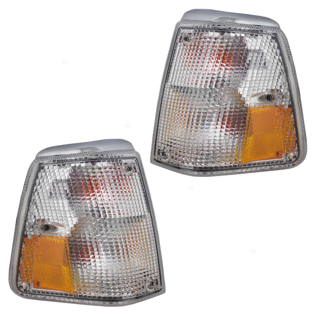 コーナーライト New Pair Set Park Signal Corner Marker Light Lamp DOT 86 87 88 89-93 Volvo 240 新しいペアセットパーク信号コーナーマーカーライトランプDOT 86 87 88 89-93 Volvo 240