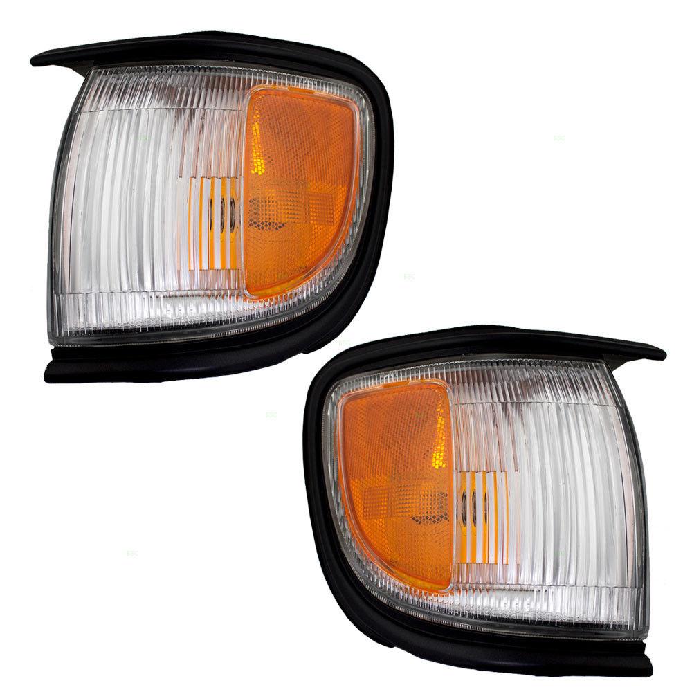 コーナーライト New Pair Set Corner Signal Side Marker Light Lamp for 96-99 Nissan Pathfinder 96-99日産パスファインダー用新ペアセットコーナー信号サイドマーカーライトランプ