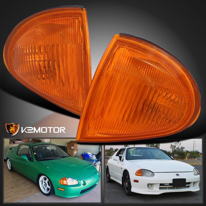 コーナーライト For 1993-1997 Honda Del Sol JDM Corner Signal Lights Pair Amber 1993-1997 Honda Del Sol JDMコーナー信号灯ペア琥珀