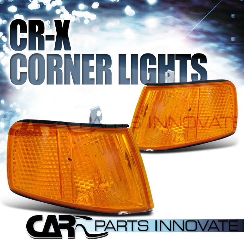コーナーライト For 90-91 Honda CRX JDM Amber Signal Corner Lights Lamp w/ One Bulb Slot Only 90-91ホンダCRX JDMアンバー信号コーナーライトランプ(1つの電球スロットのみ)