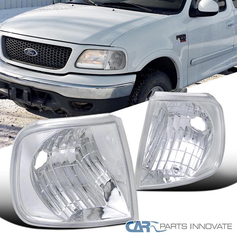 コーナーライト Ford 97-02 F150 Expedition Pickup Corner Lights Signal Park Lamps Chrome Clear フォード97-02 F150遠征ピックアップコーナーライトシグナルパークランプクロームクリア