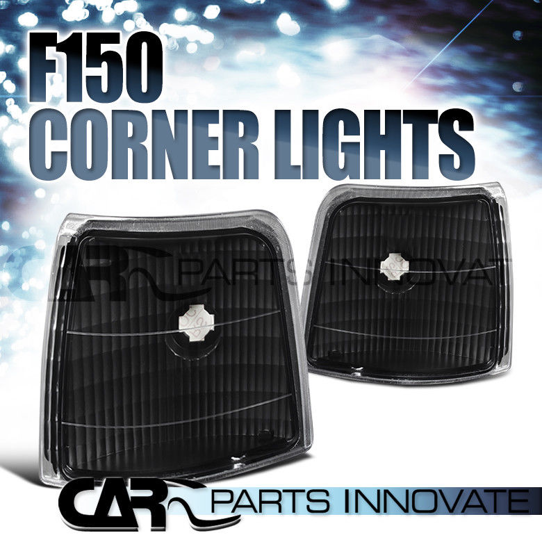 コーナーライト 1992-1996 97 Ford F150 F250 F350 Bronco Black Corner Turn Signal Lights Lamp 1992-1996 97 Ford F150 F250 F350ブロンコブラックコーナーターンシグナルライトランプ