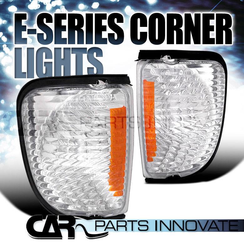 コーナーライト 1992-2007 Ford Econoline Van Front Signal Corner Lights Clear Amber 1992-2007 Ford Econolineバンフロント信号コーナーライトクリア琥珀
