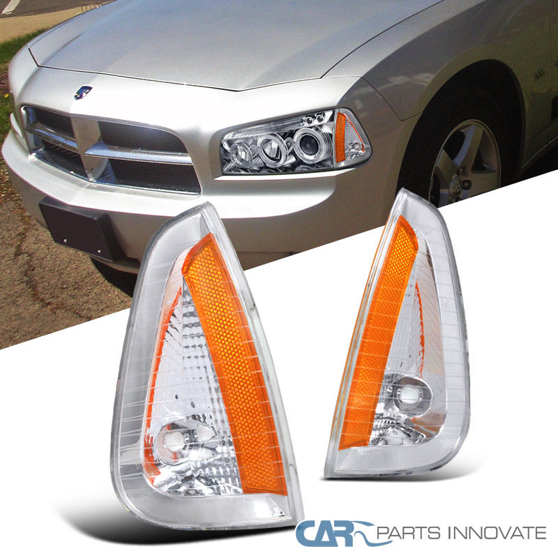 コーナーライト Dodge 06-10 Charger Clear Lens Front Turning Signal Lamps Corner Lights Pair ドッジ06-10チャージャークリアレンズフロントターンシグナルランプコーナーライトペア