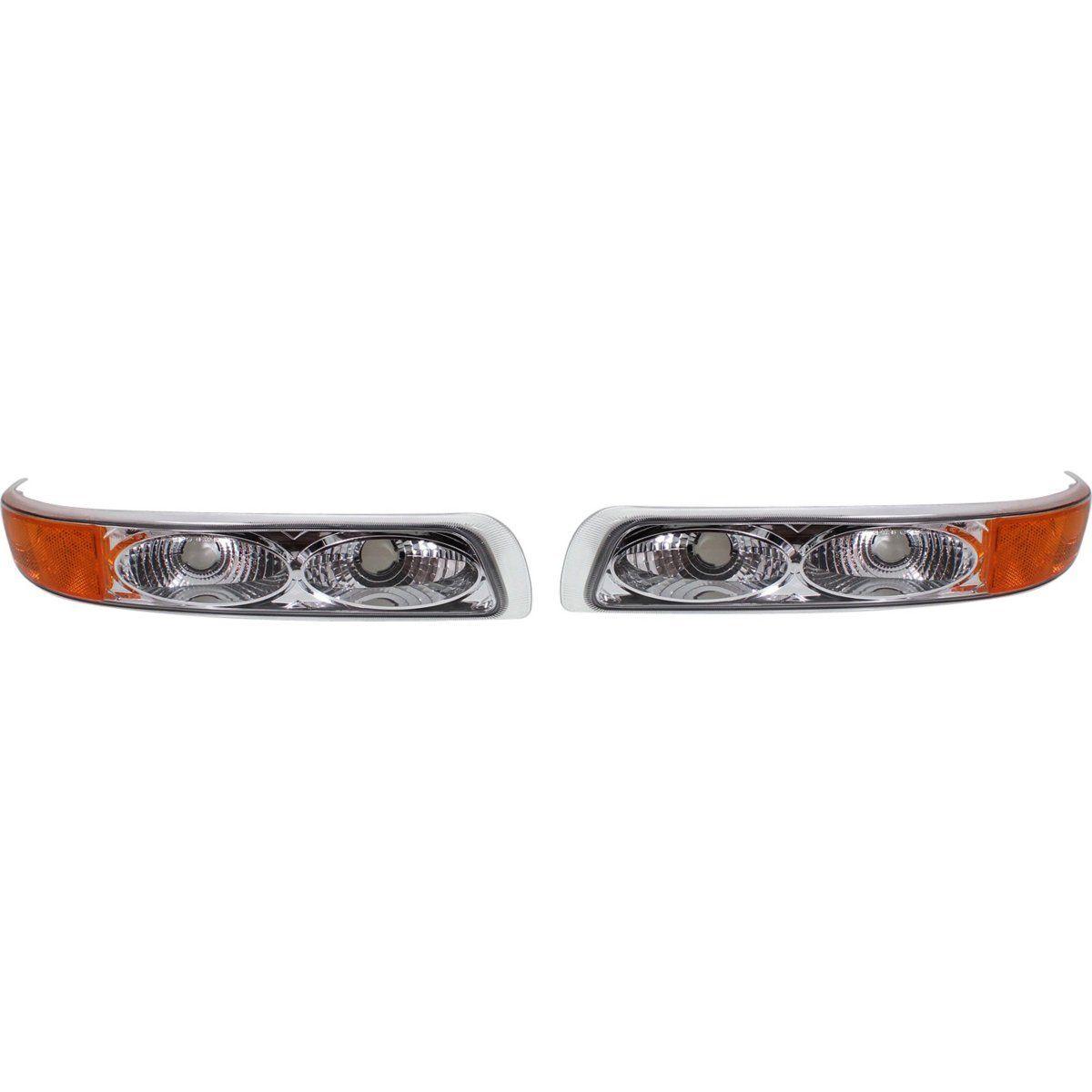 コーナーライト Custom Parking Light For 99-2002 Chevrolet Silverado 1500 w/ chrome trim LH & RH 99-2002用のカスタムパーキングライトChevrolet Silverado 1500 w / chrome trim LH& RH