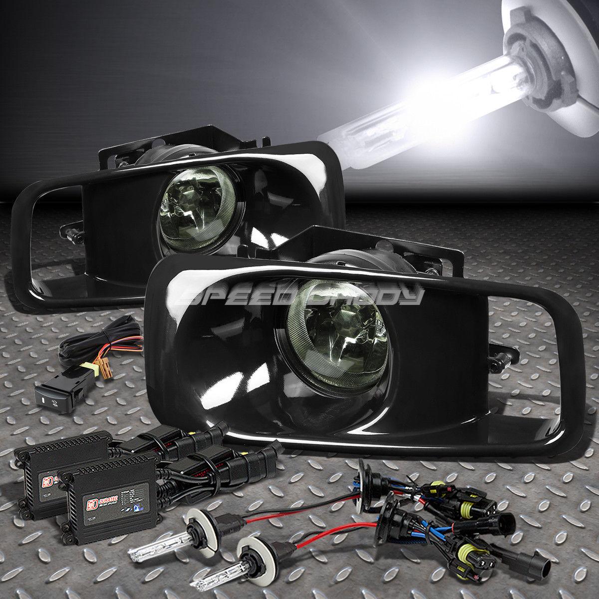 フォグライト SMOKE DRIVING BUMPER OE FOG LIGHT/LAMP+6K SLIM HID FOR 99-00 CIVIC EJ/EK/EM SMOKE DRIVING BUMPER OE FOGライト/ランプ+ 6KスリムHID 99-00 CIVIC EJ / EK / EM