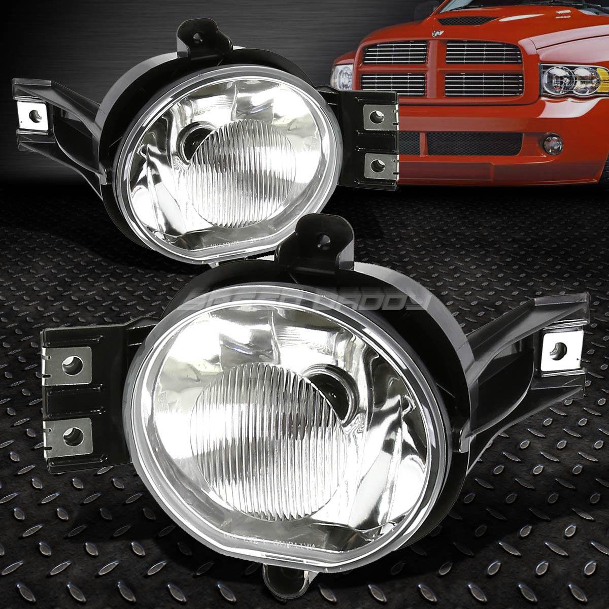 フォグライト FOR 02-09 DODGE RAM/DURANGO CHROME CLEAR LENS OE BUMPER DRIVING FOG LIGHTS LAMPS 02-09ダッジRAM /デュランゴクロームクリアレンズOEバッファードライビングフォグライトランプ