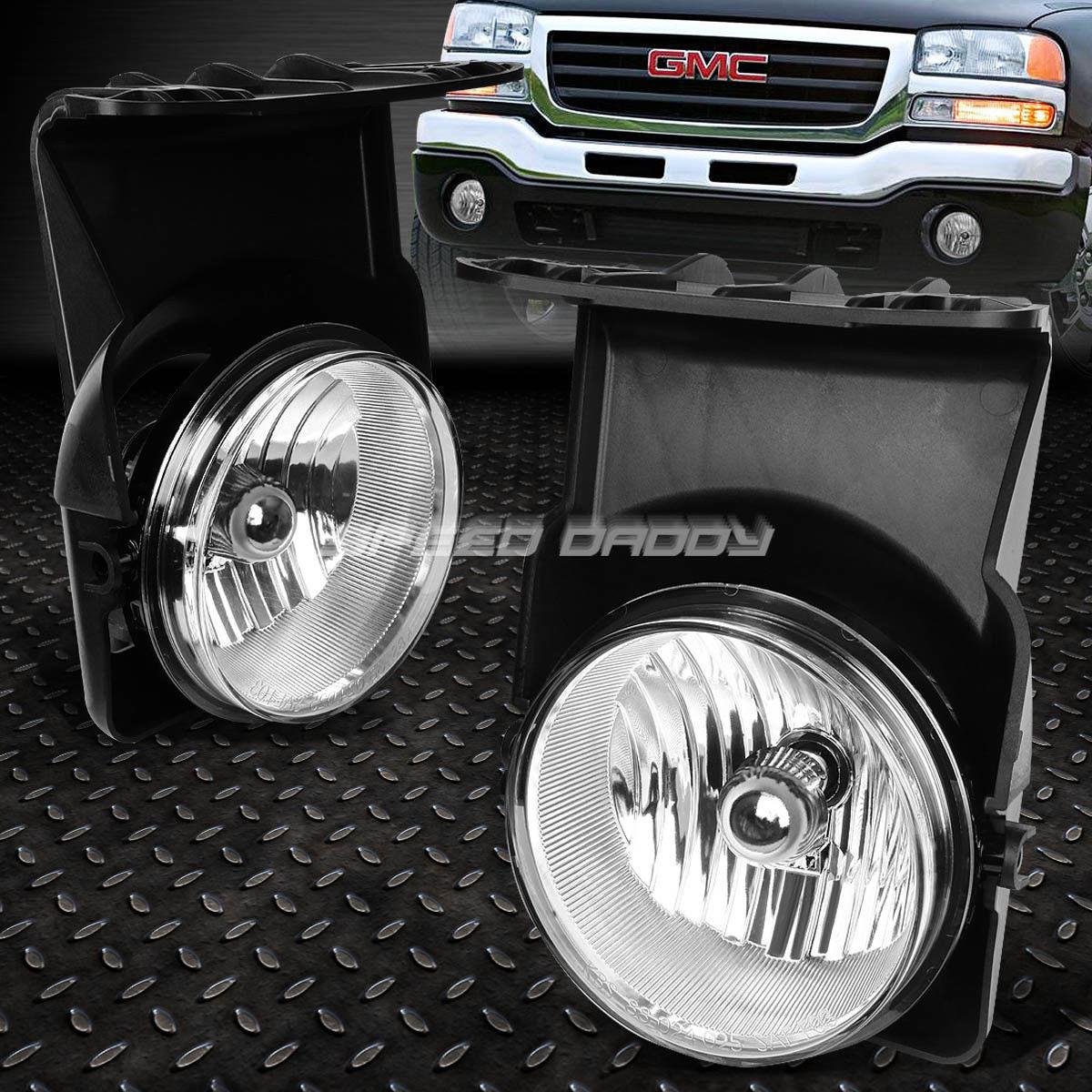 USフォグライト FOR 03-06 GMC SIERRA 1500/2500/3500 CHROME LENS OE BUMPER DRIVING FOG LIGHT LAMP FOR 03-06 GMC SIERRA 1500/2500/3500 CHROMEレンズOEバッファー駆動フォグライトランプ