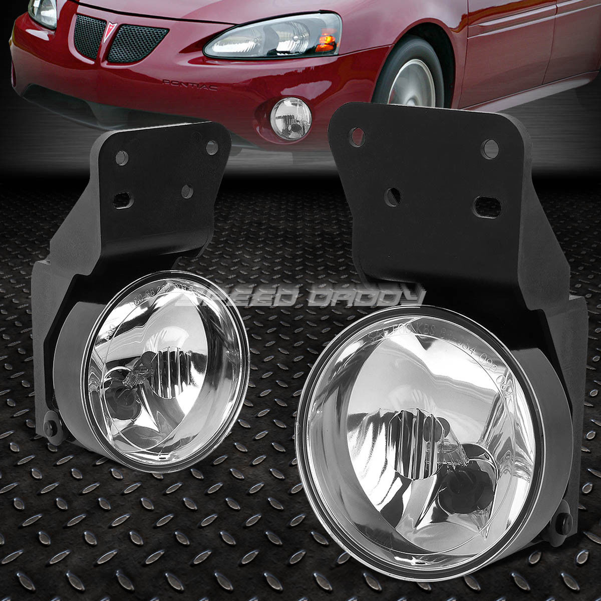 フォグライト FOR 99-05 PONTIAC GRAND AM CRYSTAL CLEAR LENS OE BUMPER DRIVING FOG LIGHT LAMP 99-05ポントクタグランアクリスタルクリアレンズOEバッファを駆動するフォグライトランプ