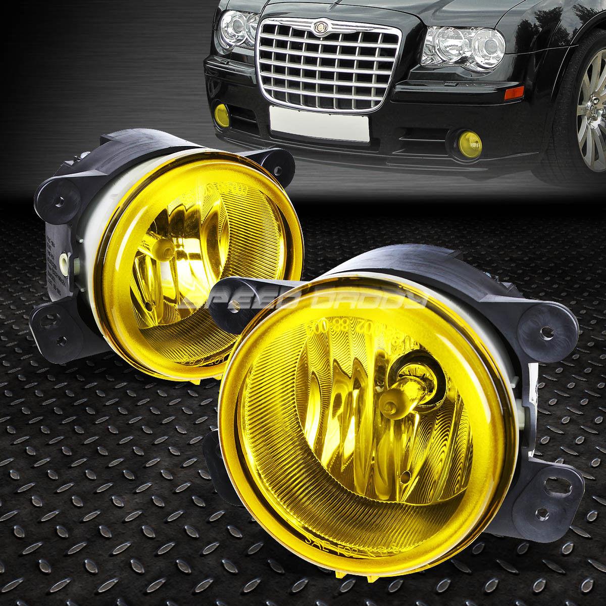 フォグライト FOR 05-10 CHRYSLER 300/300C SRT-8 YELLOW LENS OE BUMPER DRIVING FOG LIGHT LAMP 05-10クライスラー300 / 300C SRT-8イエローレンズOEバッファードライフォグライトランプ