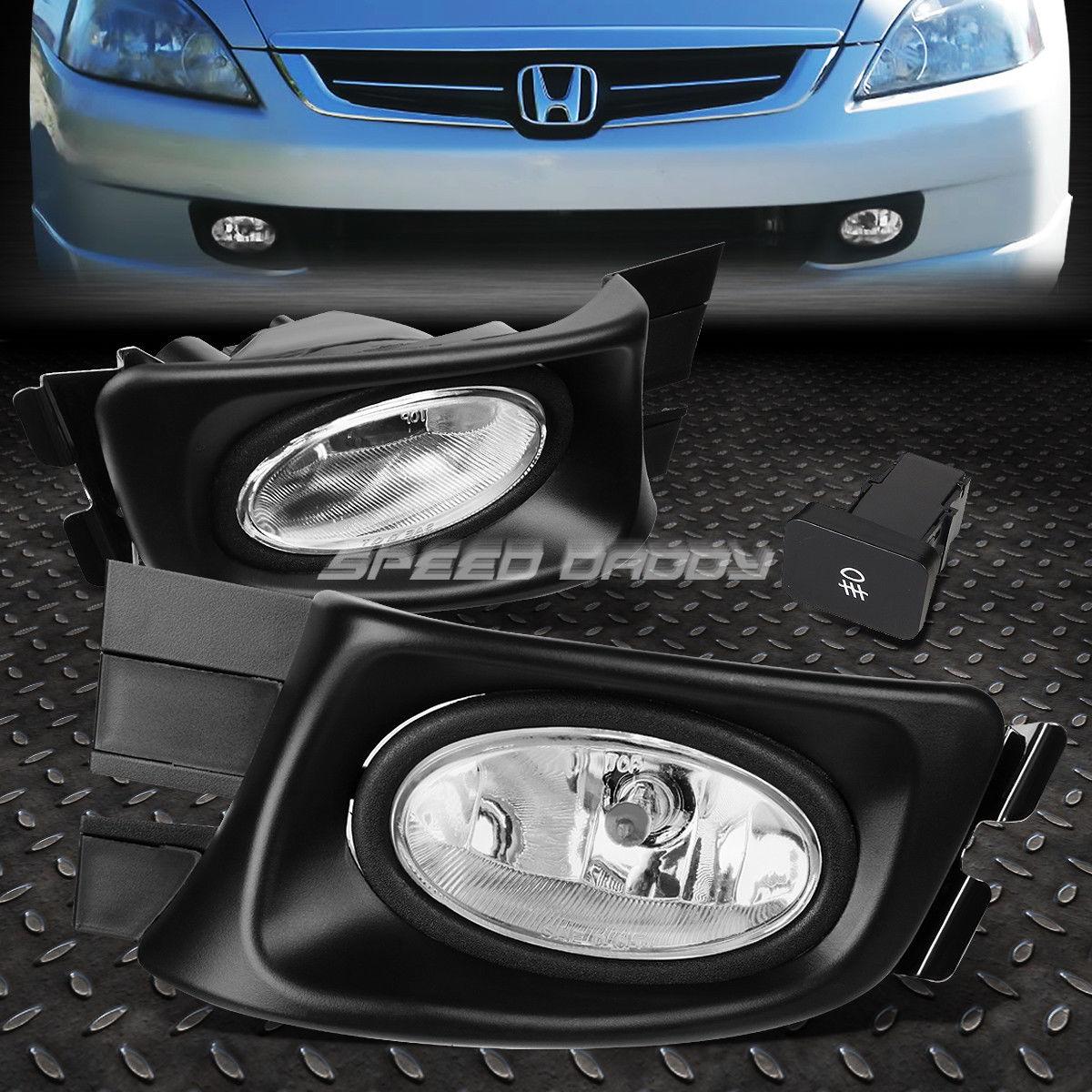 フォグライト FOR HONDA ACCORD 03-05 4-DR SEDAN OE BUMPER FOG LIGHT LAMP KIT WITH SWITCH+WIRE ホンダ用アクセサリー03-05 4-DR SEDAN OE BUMPERフォグライトライトキット、スイッチ+ワイヤー