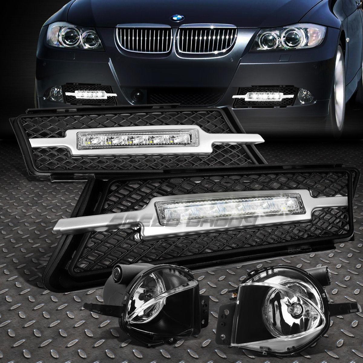 フォグライト CLEAR BUMPER DRIVING FOG LAMP+LED DRL DAYTIME RUNNING LIGHT FOR 06-08 E90/E91 CLEAR BUMPER DRIVING FOG LAMP + 06-08 E90 / E91用DRL DRLランニングライト