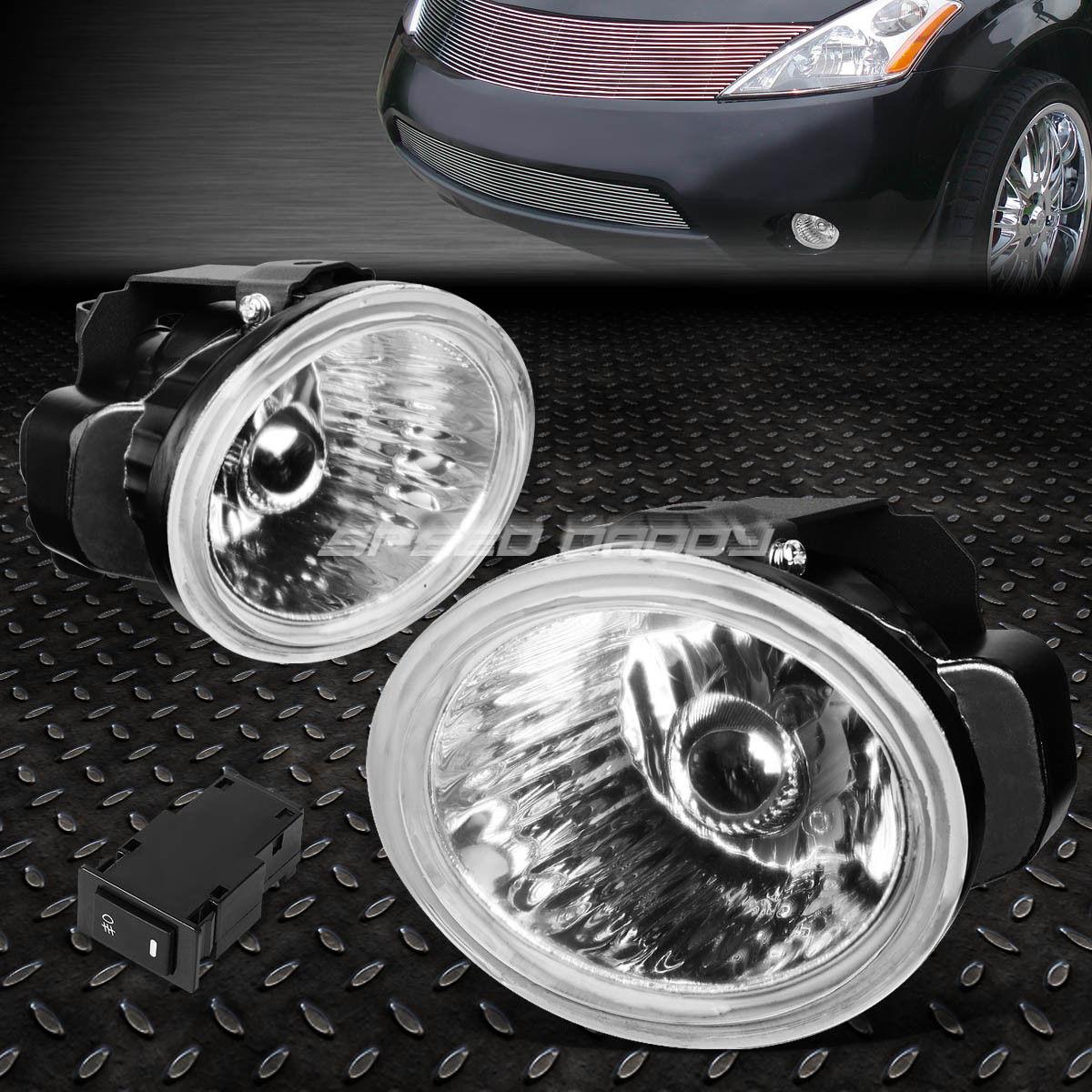 フォグライト FOR 02-04 ALTIMA/-05 FX/-07 MURANO CHROME LENS OE DRIVING FOG LIGHT LAMP+SWITCH 02-04アルティマ/ -05 FX / -07ムラノクロームレンズOE駆動フォグライトランプ+スイッチ