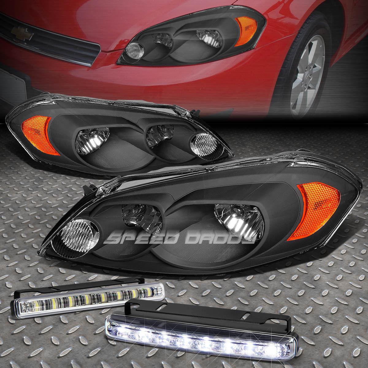 フォグライト BLACK HOUSING CLEAR LENS+AMBER CORNER HEADLIGHT+LED FOG LIGHT FOR 06-16 IMPALA BLACK HOUSING CLEAR LENS +アンバーコーナーヘッドライト+ 06-16 IMPALA用LED FOGライト