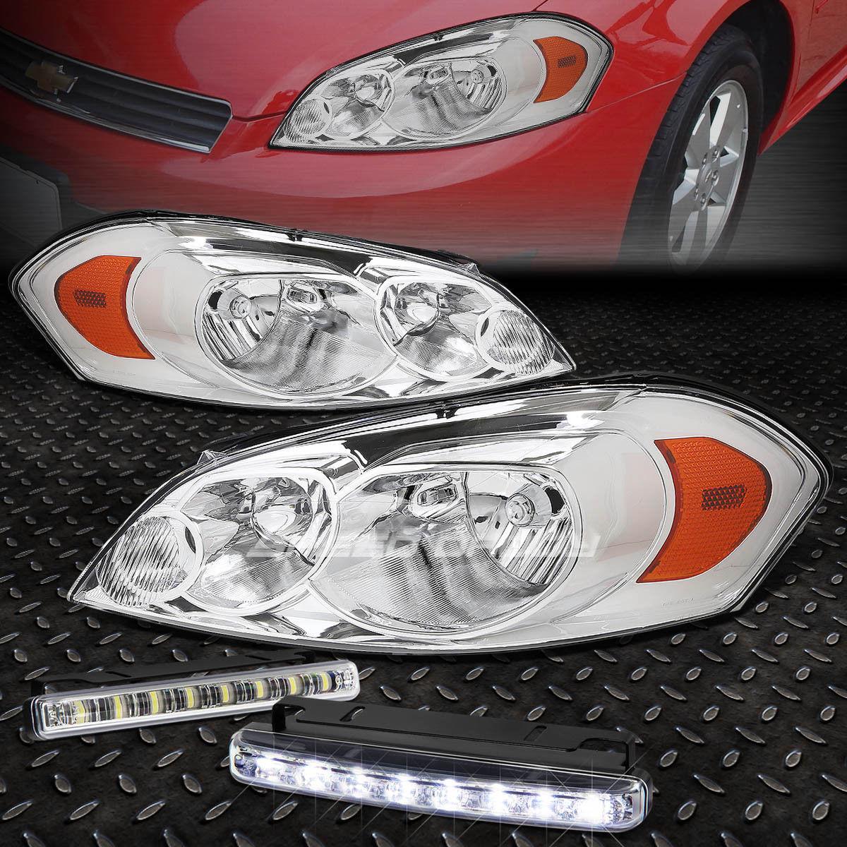 フォグライト CHROME HOUSING CLEAR LENS+AMBER CORNER HEADLIGHT+LED FOG LIGHT FOR 06-16 IMPALA CHROME HOUSING CLEAR LENS +アンバーコーナーヘッドライト+ 06-16 IMPALA用LED FOGライト