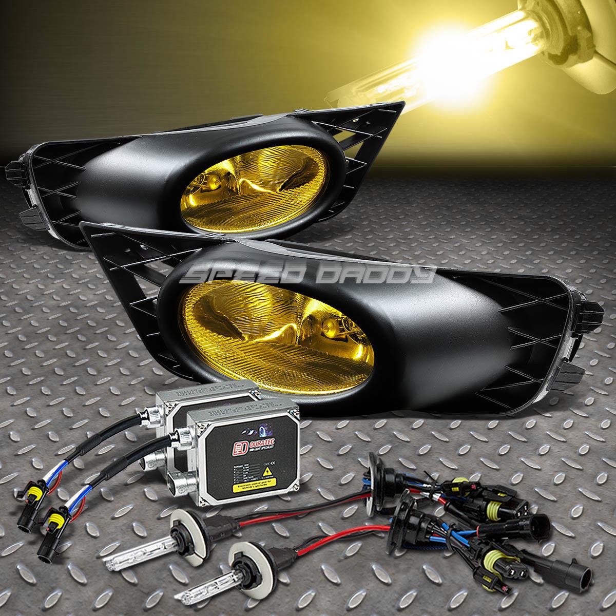 フォグライト AMBER LENS DRIVING BUMPER OE FOG LIGHT/LAMP+3K HID FOR 09-11 CIVIC 4DR FA/FD AMBERレンズ駆動バンパーOE FOGライト/ランプ+ 3K HID for 09-11 CIVIC 4DR FA / FD