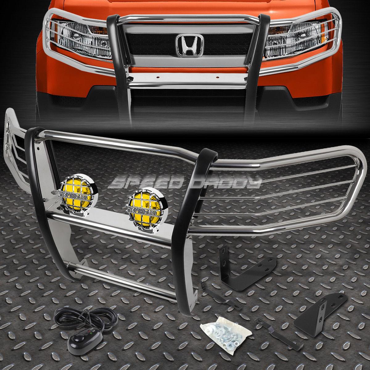 <title>車用品 ハイクオリティ バイク用品 >> パーツ ライト ランプ その他 フォグライト CHROME BRUSH GRILL GUARD+ROUND AMBER FOG LIGHT FOR 03-11 HONDA ELEMENT Y1 H1 03-11ホンダエレメントY1 H1用のクロムブラシグリルガード+ラウンドアンバーフォグライト</title>