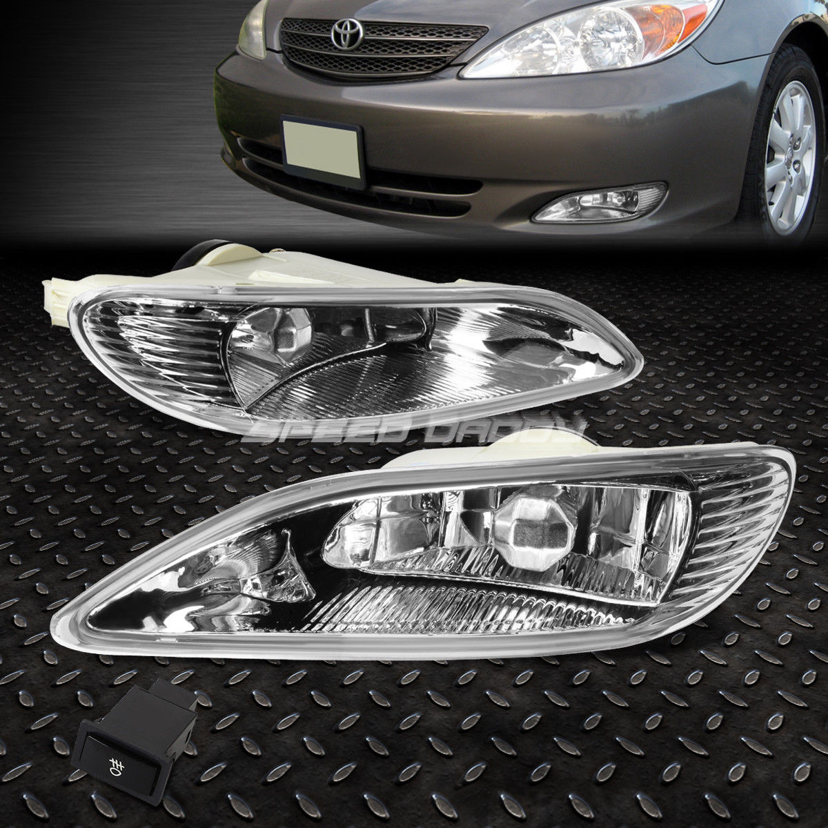 フォグライト FOR TOYOTA 02-04 CAMRY XV30/05-08 COROLLA SDD OE FOG LIGHT(WIRING KIT&SWITCH FOR TOYOTA 02-04 CAMRY XV30 / 05-08 COROLLAはOEM FOG LIGHTを追加します(配線キットamp;スイッチ