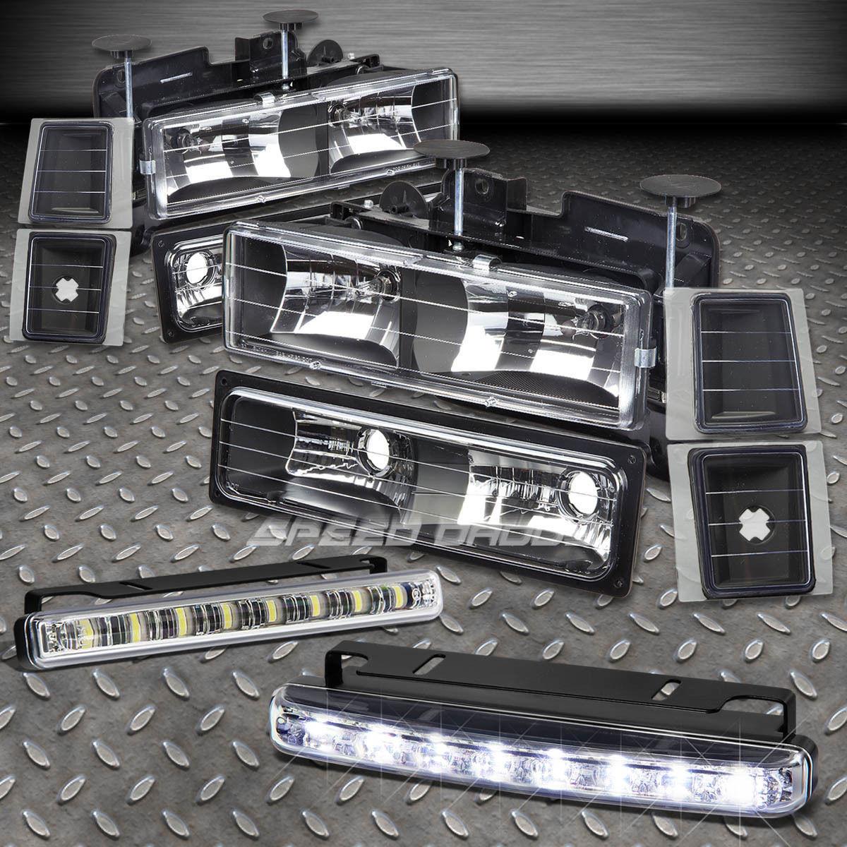 フォグライト BUMPER+CORNER LIGHT+BLACK HOUSING HEADLIGHTS LED FOG LAMP FITS 94-98 CHEVY C/K バンパー+コーナーライト+ブラックハウスヘッドライトLED FOG LAMP FITS 94-98 CHEVY C / K