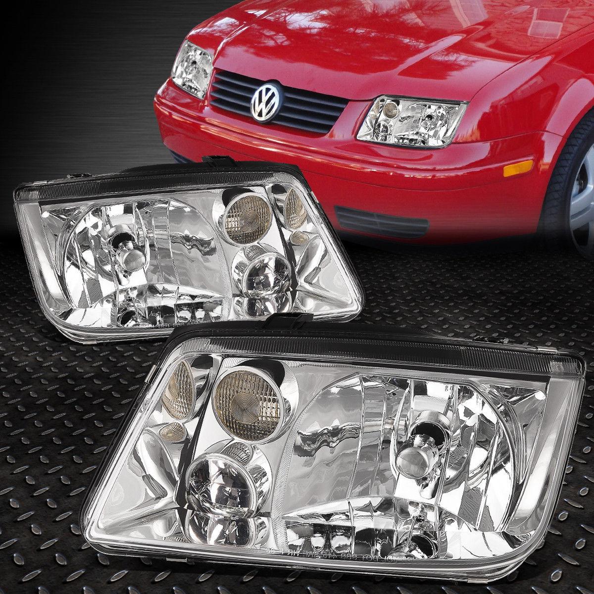 フォグライト FOR 1999-2005 VW JETTA W/O FOG LIGHT CHROME HOUSING CLEAR CORNER HEADLIGHT/LAMP 1999-2005 VW JETTA W / O FOGライトクロム住宅クリアーコーナーヘッドライト/ランプ