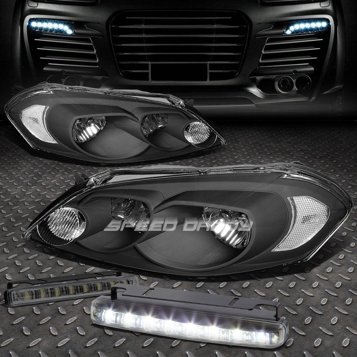 フォグライト BLACK HOUSING+CORNER HEADLIGHT+8 LED SMOKE FOG LIGHT FOR 06-16 MONTE CARLO ブラックホーニング+コーナーヘッドライト+ 8 LED SMOKE FOGライト、06-16 MONTE CARLO