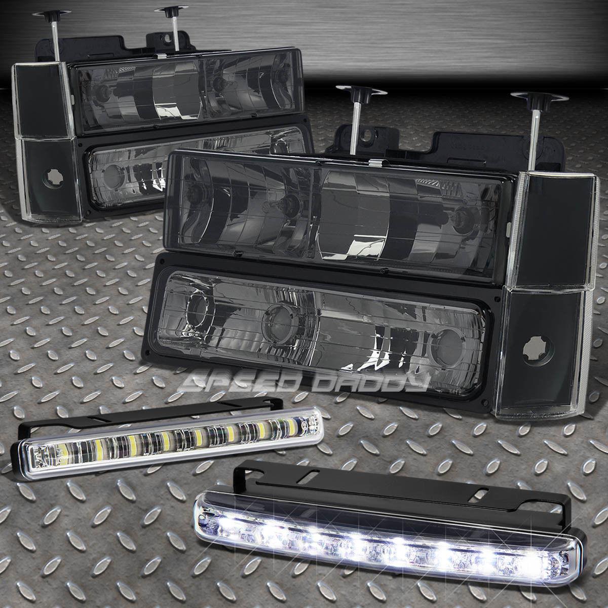 フォグライト BUMPER+CORNER LIGHT+SMOKED TINT HEADLIGHTS LED FOG LAMP FITS 88-93 BLAZER/TAHOE バンパー+コーナーライト+スモーキングテントヘッドライトLED FOG LAMP FITS 88-93 BLAZER / TAHOE
