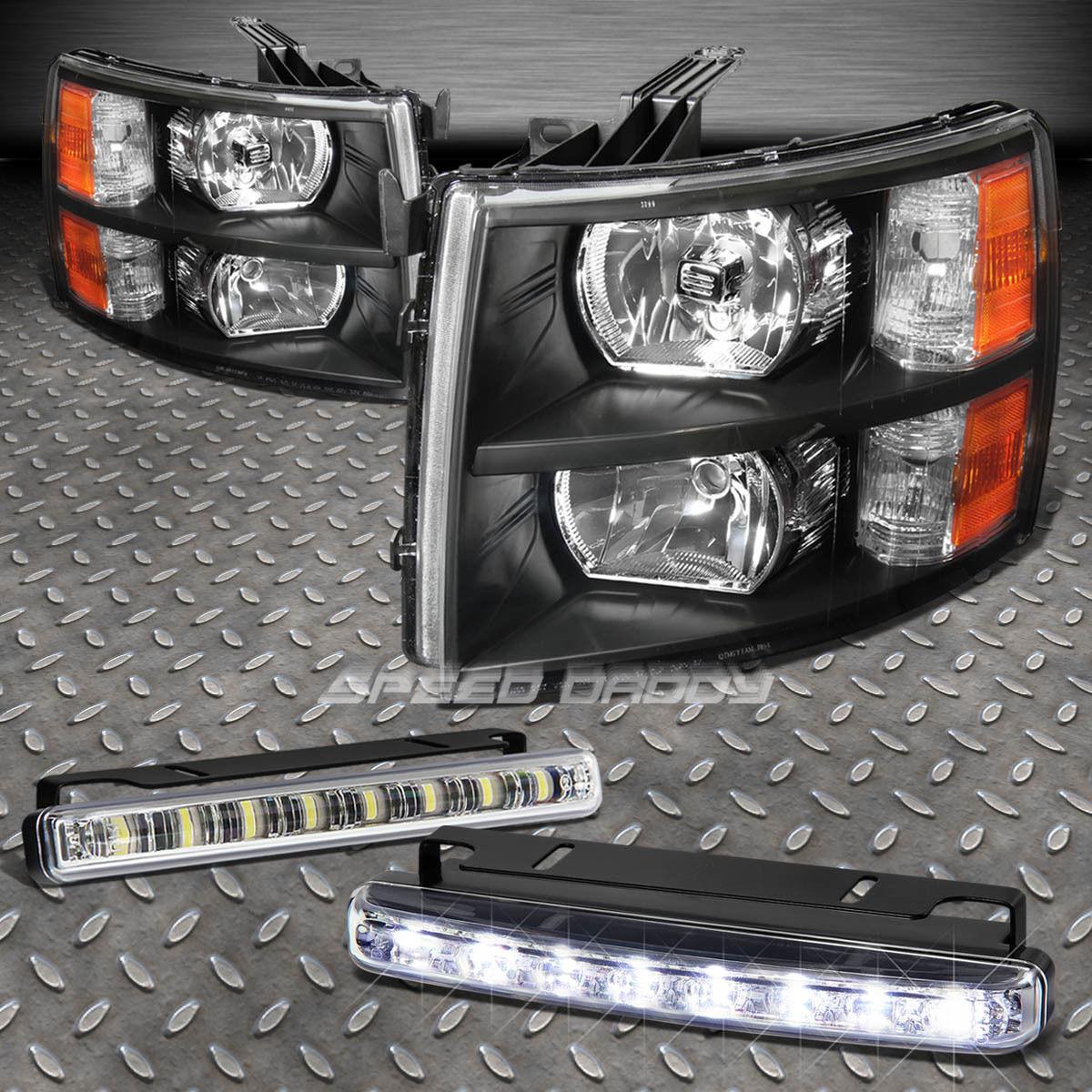 フォグライト SIGNAL BUMPER LAMP+HEADLIGHT BLACK HOUSING+LED FOG LIGHT FITS 07-13 SILVERADO 信号バンパーランプ+ヘッドライトブラックハウジング+ LEDフォグライトフィット07-13 SILVERADO
