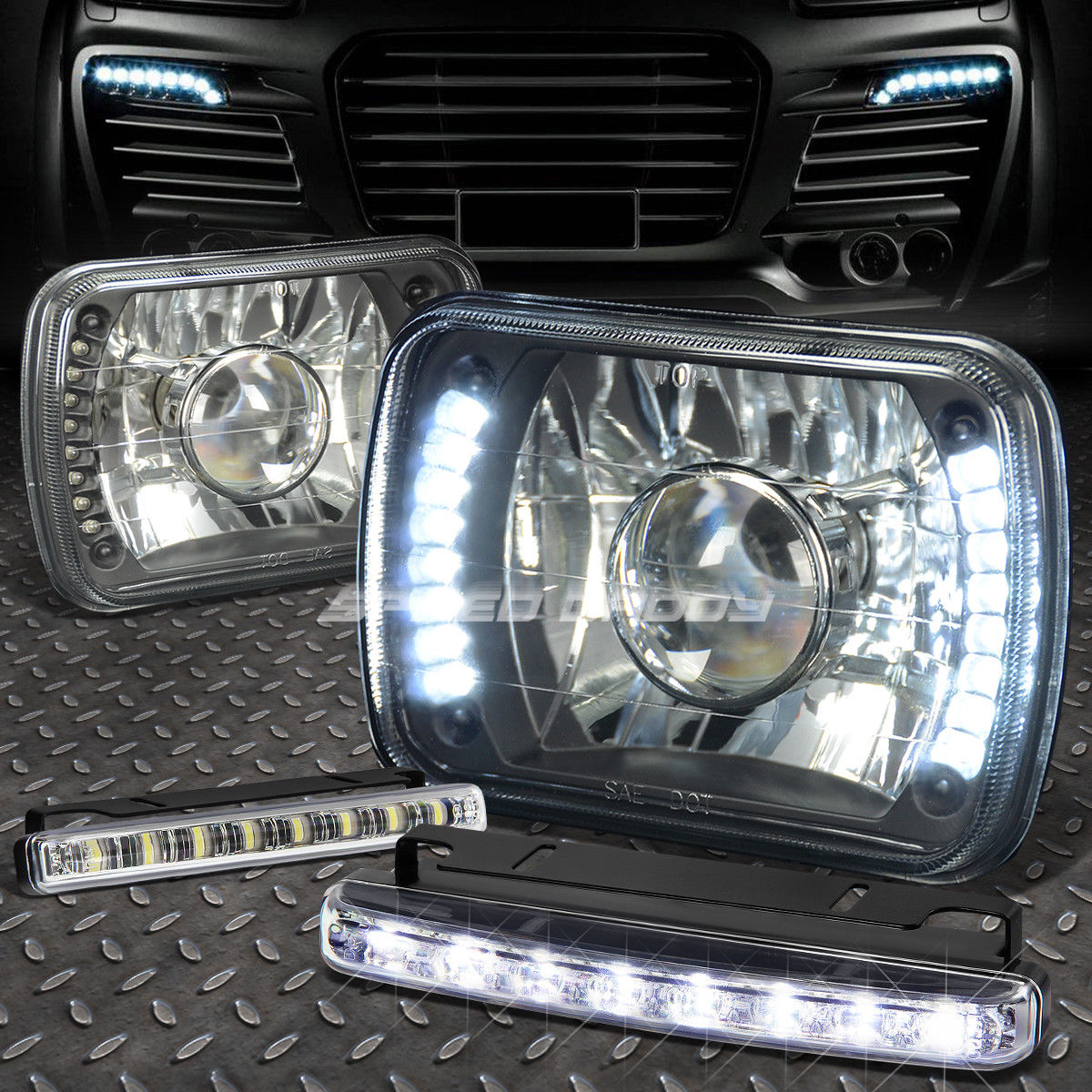 USフォグライト SQUARE/ BLACK PROJECTOR HEADLIGHT+8 FOR LED HEADLIGHT+8 LED GRILL FOG LIGHT FOR H6014/H6054 スクエアブラックプロジェクターLEDヘッドライト+ H6014/ H6054用8 LEDグリルフォグライト, アドゥラブル 輸入子供服専門店:a27f90c9 --- diadrasis.net
