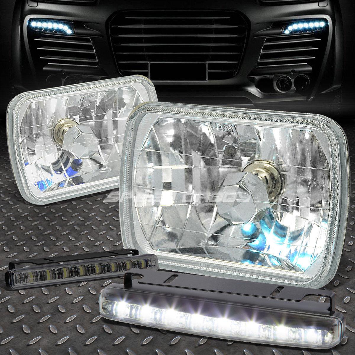 フォグライト CHROME HOUSING SQUARE DIAMOND HEADLIGHT+8 LED SMOKE FOG LIGHT FOR H6014/H6054 CHROME HOUSING SQUAREダイヤモンドヘッドライト+ H6014 / H6054用8個のSMOKE FOGライト
