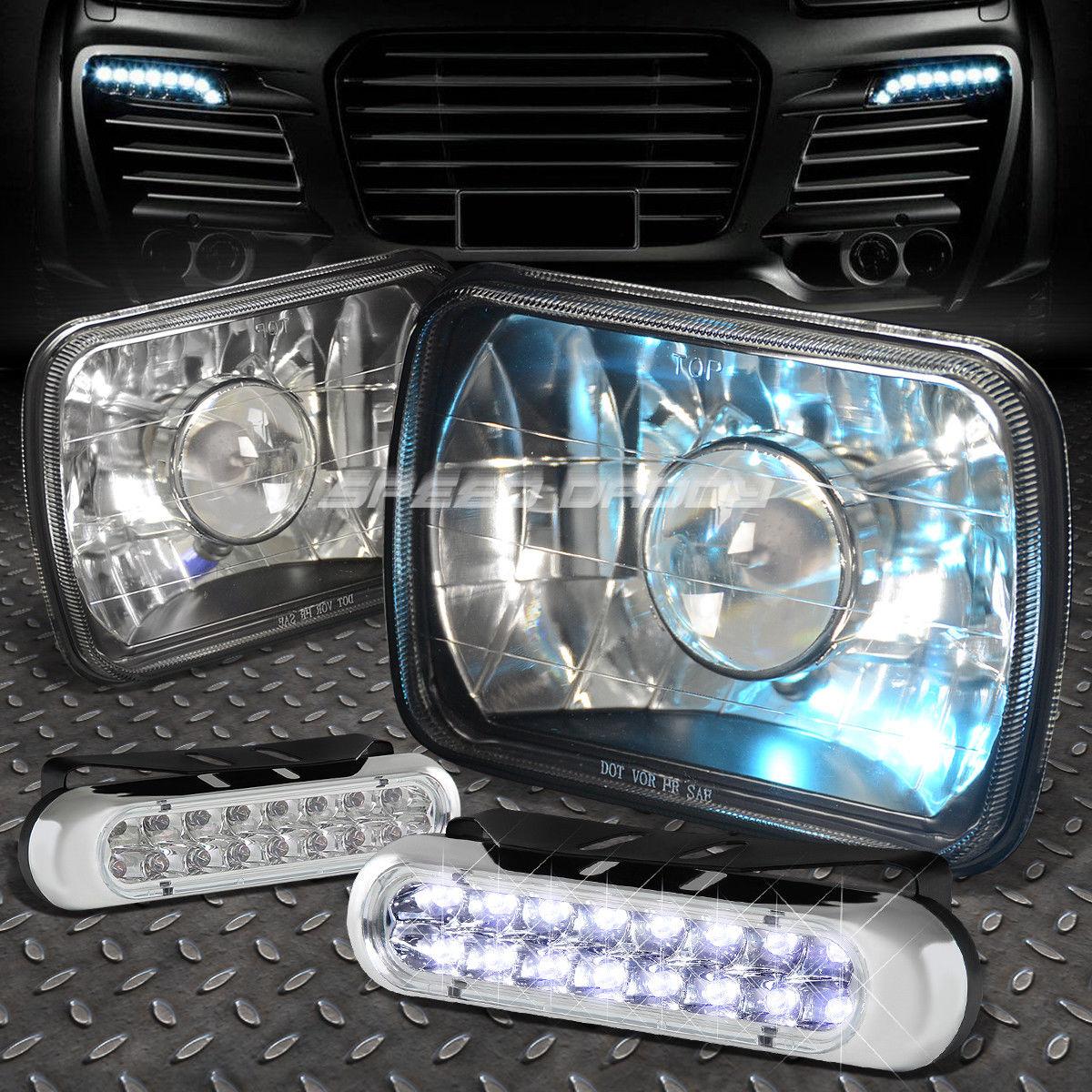 車用品・バイク用品 >> 車用品 >> パーツ >> ライト・ランプ >> その他 フォグライト 7x6 SQUARE BLACK PROJECTOR GLASS HEADLIGHT+16 LED GRILL FOG LIGHT FOR NISSAN 7×6スクエアブラックプロジェクターグラスヘッドライト+ 16日グリス霧ライト
