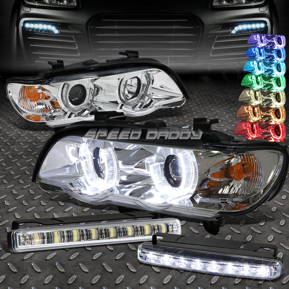 フォグライト CHROME 3D RGB COLOR HALO HEADLIGHT+6