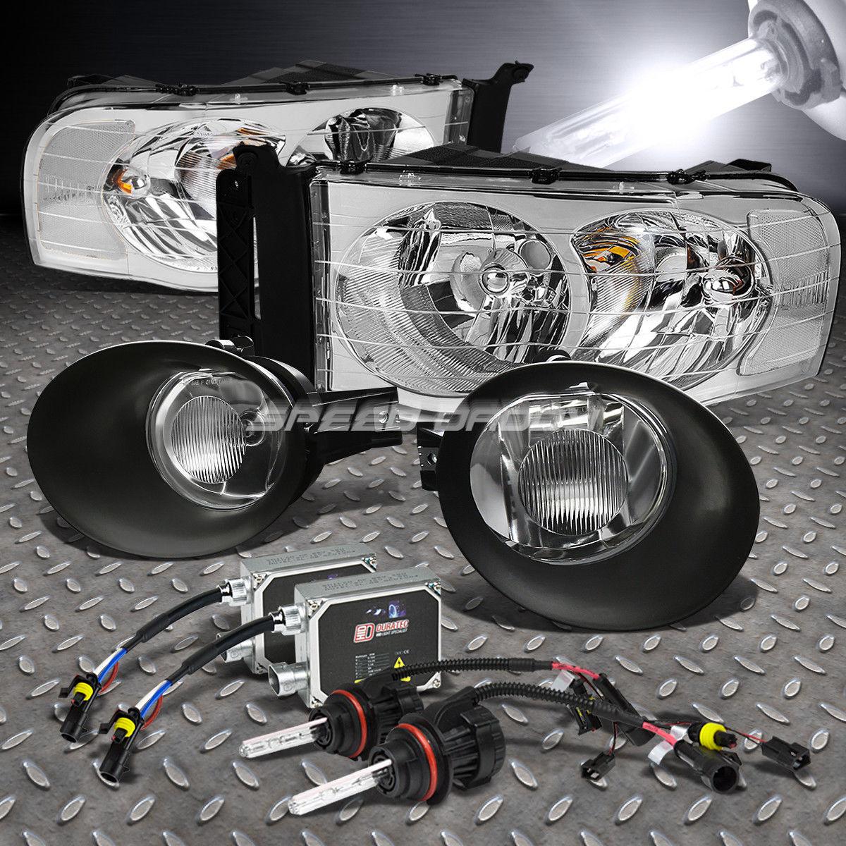 フォグライト CHROME HEADLAMP+DUAL BEAM 6K SLIM HID KIT+SMOKED FOG LIGHT FOR 02-05 DODGE RAM CHROME HEADLAMP + DUAL BEAM 6Kスリム・ハイド・キット+スモーキング・フォグ・ライト02-05ドッジ・ラム