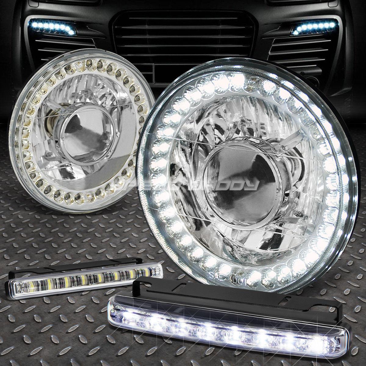 フォグライト 7x7 ROUND CHROME PROJECTOR LED HEADLIGHT+8 LED GRILL FOG LIGHT FOR CAMARO Z28 7x7 ROUND CHROME PROJECTOR LEDヘッドライト+ 8 LEDグリルフォグライトカマロZ28用