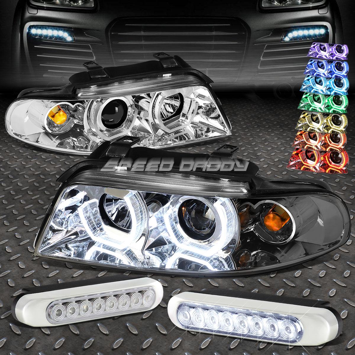 フォグライト CHROME 3D RGB COLOR HALO HEADLIGHT+4