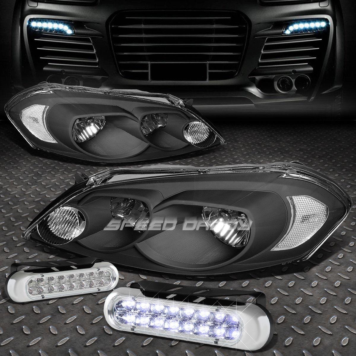 フォグライト BLACK HOUSING+CORNER HEADLIGHT+16 LED GRILL FOG LIGHT FOR 06-16 MONTE CARLO ブラックハウジング+コーナーヘッドライト+ 06 LEDグリルフォグライト06-16 MONTE CARLO