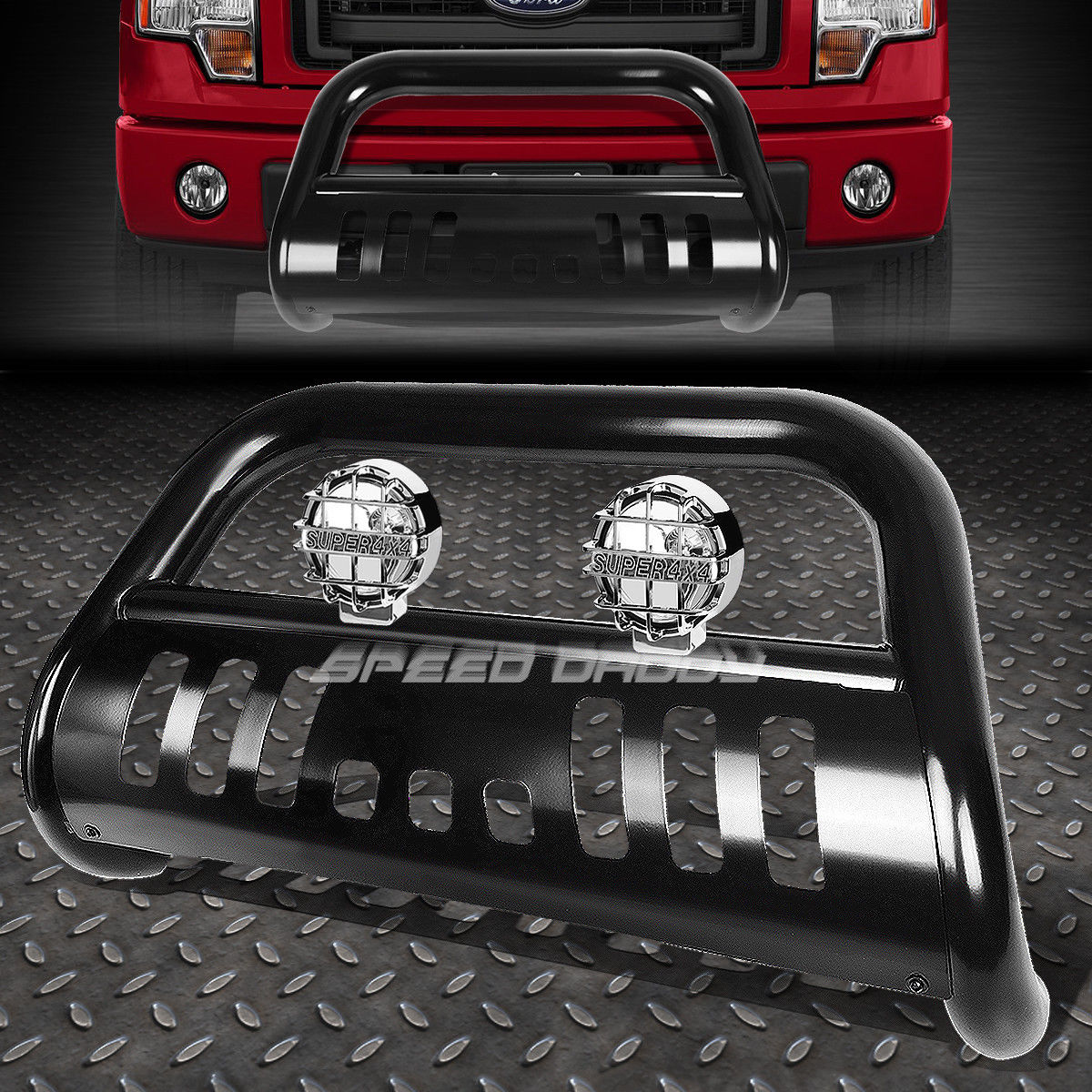 フォグライト BLACK BULL BAR GRILLE GUARD+CHROME FOG LIGHT FOR 11-16 FORD F250-F550 SUPERDUTY BLACK BULLバーグリルガード+クロムフォグライト11-16 FORD F250-F550 SUPERDUTY