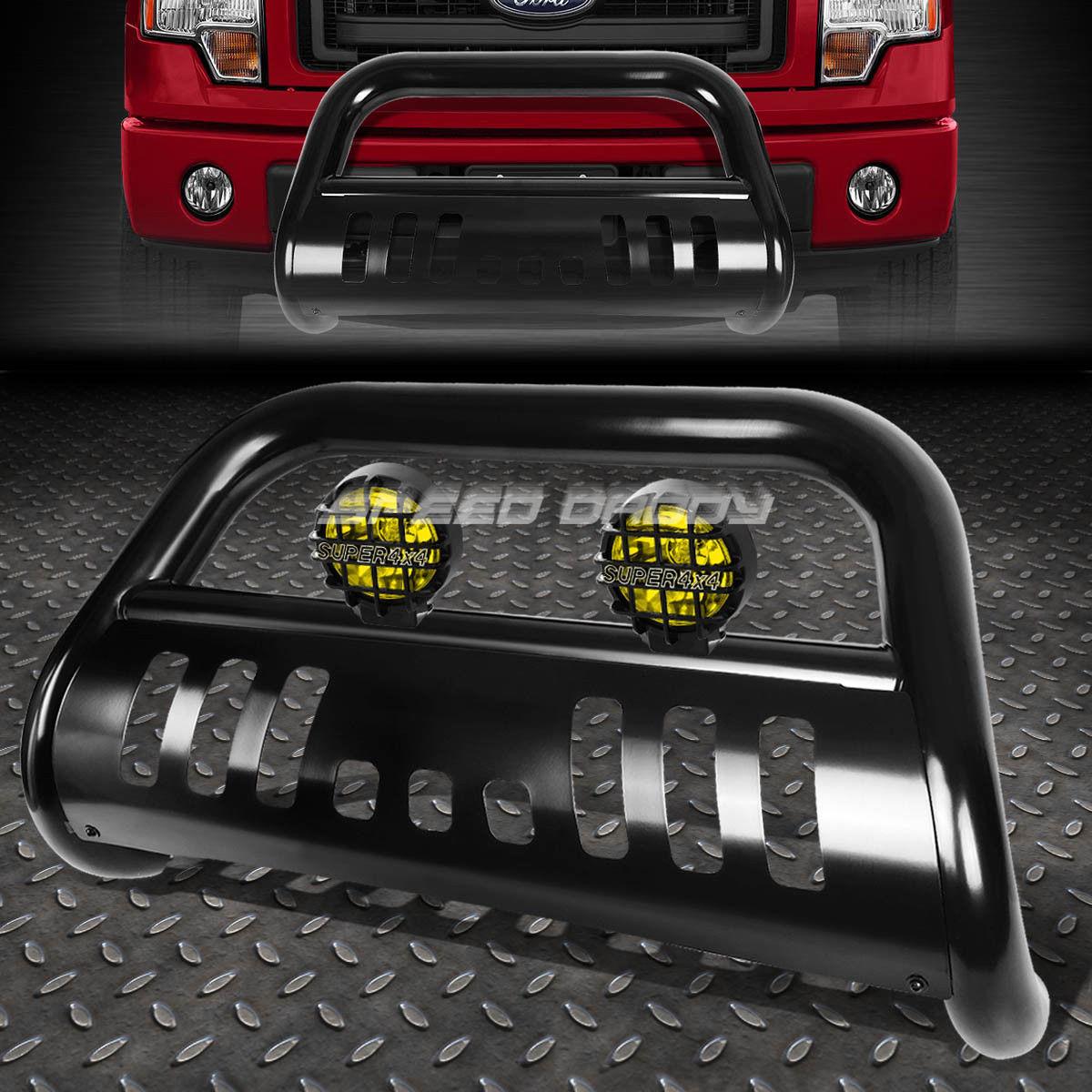 フォグライト BLACK BULL BAR GRILLE GUARD+YELLOW FOG LIGHT FOR 08-10 FORD F250-F550 SUPERDUTY BLACK BULLバーグリルガード+イエローフォグライト08-10フォードF250-F550 SUPERDUTY