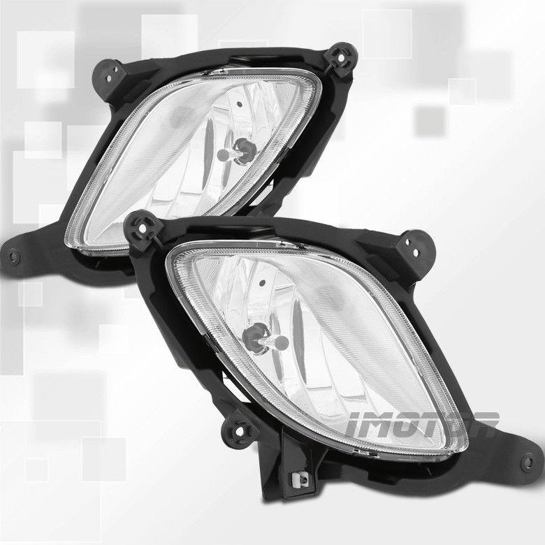 フォグライト FOR 10-12 Genesis Coupe Clear Lens Fog Lights Driving Lamps w/Switch Wiring 10-12ジェネシスクーペクリアレンズフォグランプランプを駆動するスイッチワイアリング