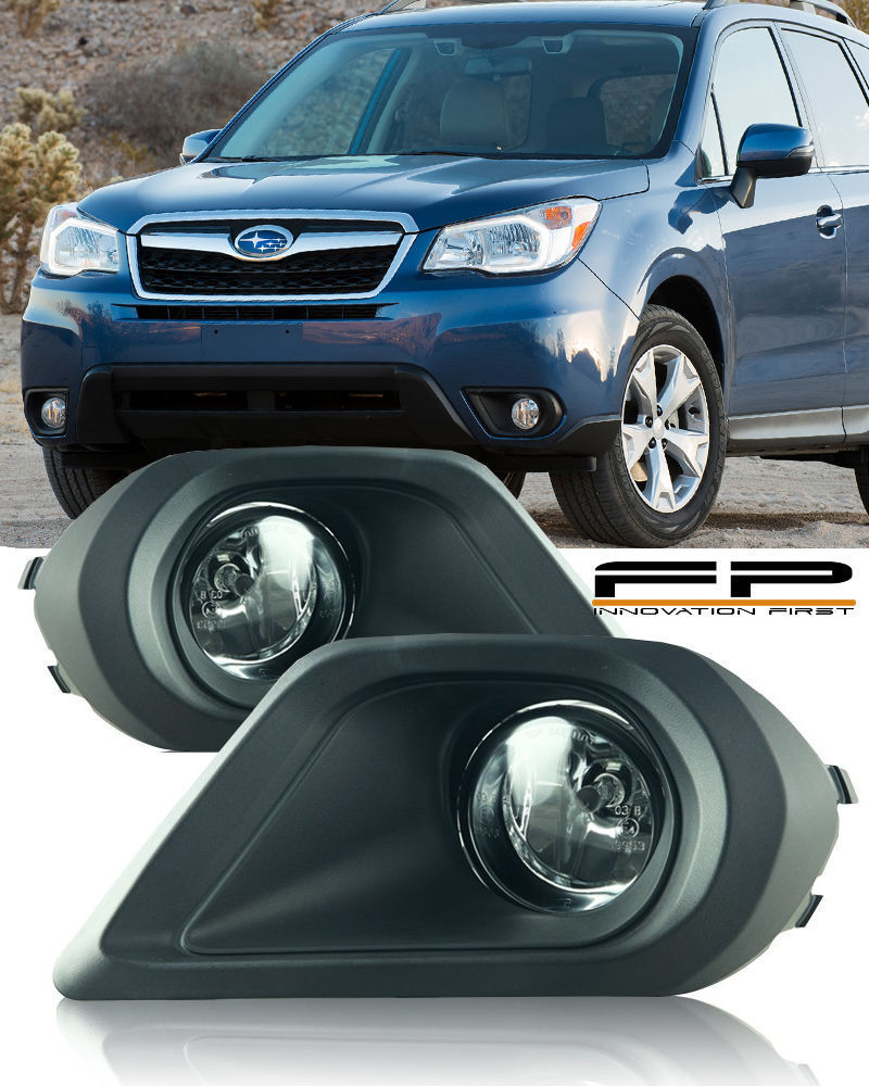 USフォグライト For 2014 2015 Subaru Forester Fog Lights Clear Lens Wiring Switch Complete Kit 2014年2015年スバルフォレスターフォグライトクリアレンズ配線スイッチ完成キット