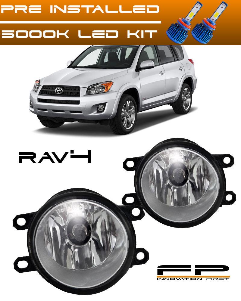 フォグライト LED 2006-2012 Toyota Rav4 Clear Lens Replacement Fog Light Housing LH/RH Pair LED 2006-2012トヨタRav4クリアレンズ交換フォグライトハウジングLH / RHペア