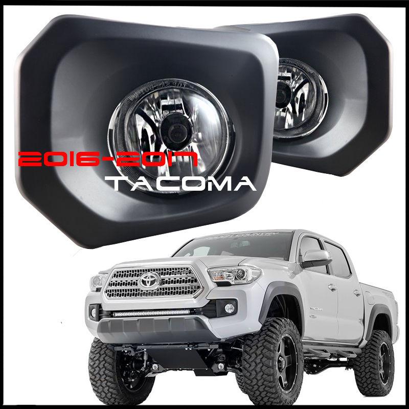 フォグライト 2016 2017 Toyota Tacoma Fog Lights Clear Bumper Lamp With Switch and Wiring Kit 2016 2017トヨタタコマフォグライトスイッチと配線キット付きクリアバンパーランプ