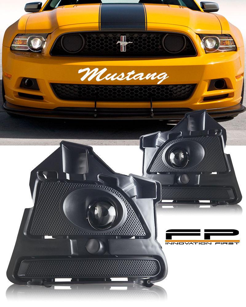 フォグライト 2013 14 FORD MUSTANG V6 GT BOSS 302 Clear Projector Fog Light Lamp Complete Kit 2013 14 FORD MUSTANG V6 GT BOSS 302クリアプロジェクターフォグライトランプコンプリートキット