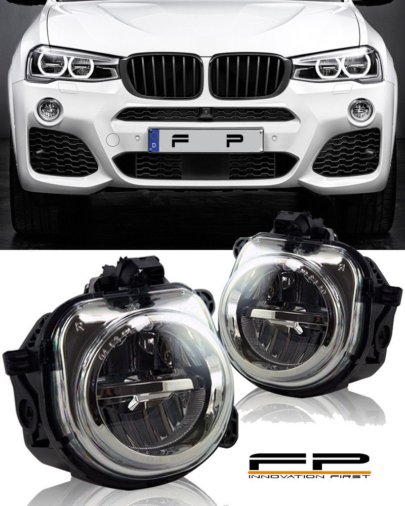 フォグライト FOR 2015-2016 BMW X4 F26 LED REPLACEMENT FOG LAMP LIGHT HOUSING ASSEMBLY PAIR 2015-2016 BMW X4 F26 LEDの交換用のFOGランプライトハウジングアッセンブリ