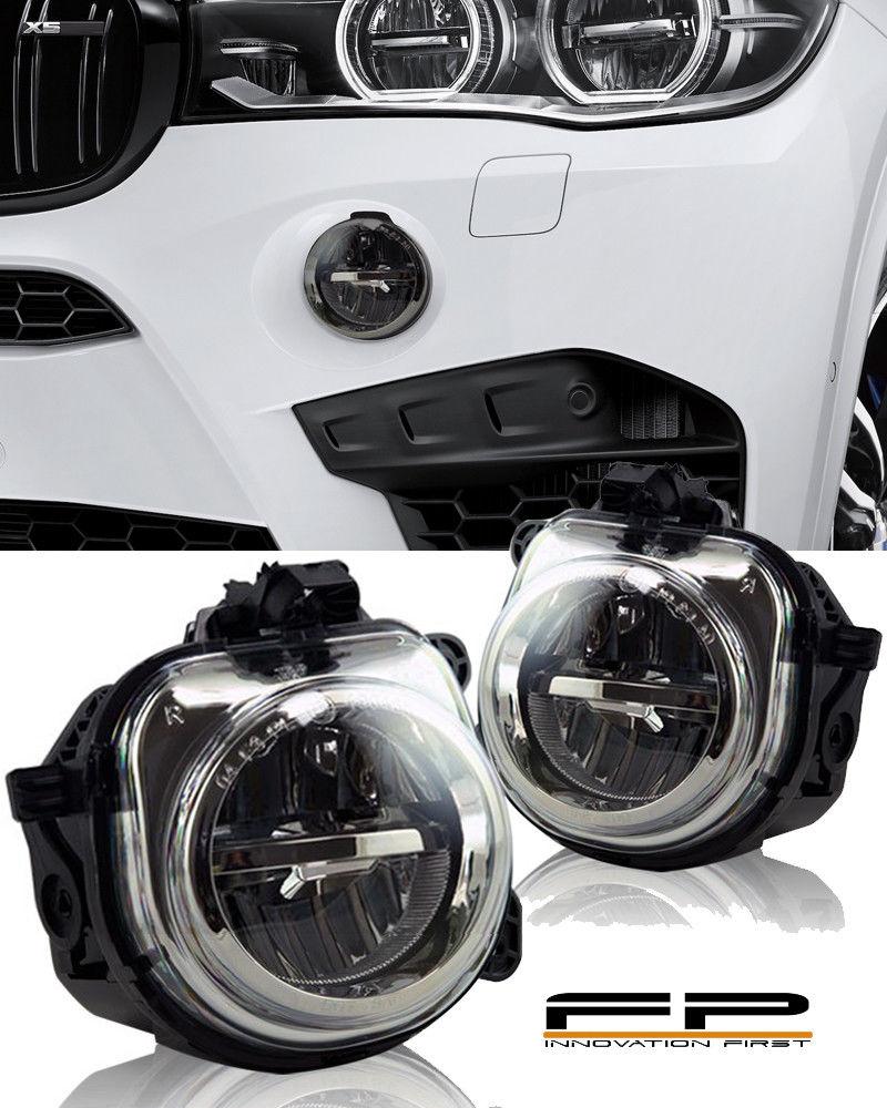 フォグライト FOR 2014-2015 BMW X5 F15 F85 LED REPLACEMENT FOG LIGHT HOUSING ASSEMBLY PAIR 2014-2015年BMW X5 F15 F85 LED交換用FOGライトハウジングアセンブリ