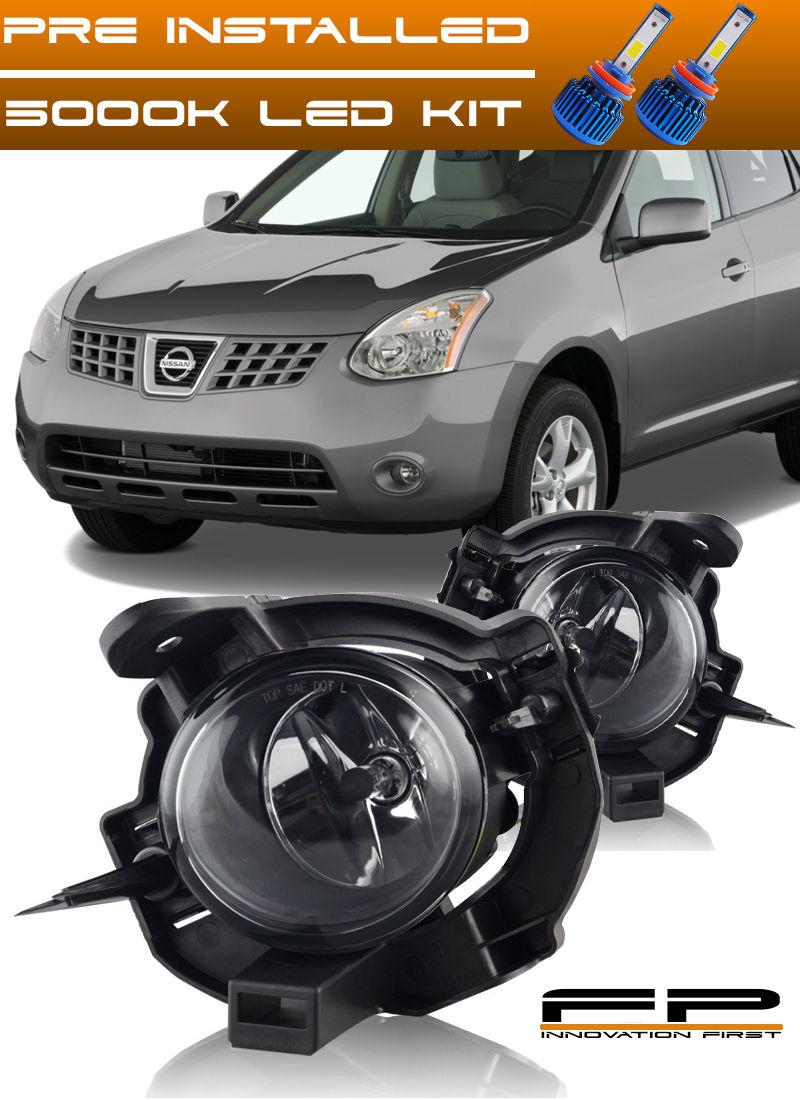 フォグライト For 2008-2010 Nissan Rogue Fog Light Clear Lens Complete Kit Wiring+Switch+ LED 2008年?2010年日産ローグフォグライトクリアレンズキット完成品配線+スイッチ+ LED