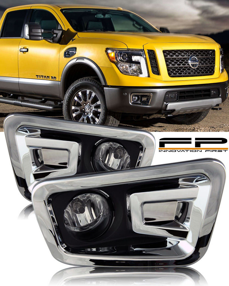 USフォグライト For 2016 2017 Nissan Titan Clear Lens Fog Light Full Complete Kit Switch+Harness 2016年2017日産タイタンクリアレンズフォグライトフルコンプリートキットスイッチ+ハーネス