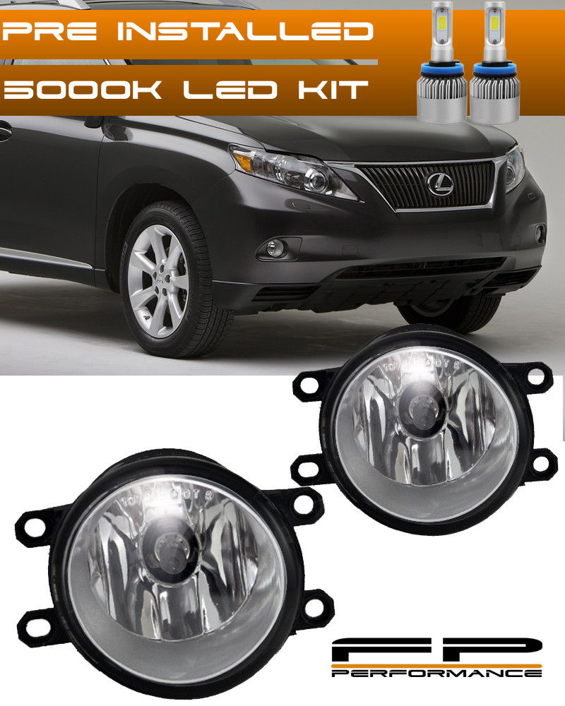 USフォグライト For 10-12 Lexus RX350 10-14 RX450H Clear Lens LED Replacement Fog Light Housing 10-12 Lexus RX350 10-14 RX450HクリアレンズLED交換用フォグライトハウジング