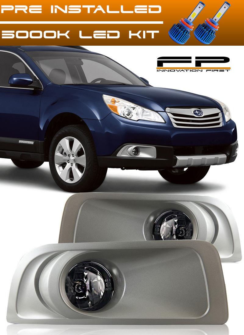 フォグライト For 2010 2011 2012 Subaru Legacy Outback LED Fog Lights Clear Lamps Complete Kit 2010年の2011年の2012年のスバルレガシーアウトバックLEDフォグライトクリアランプ完全キット