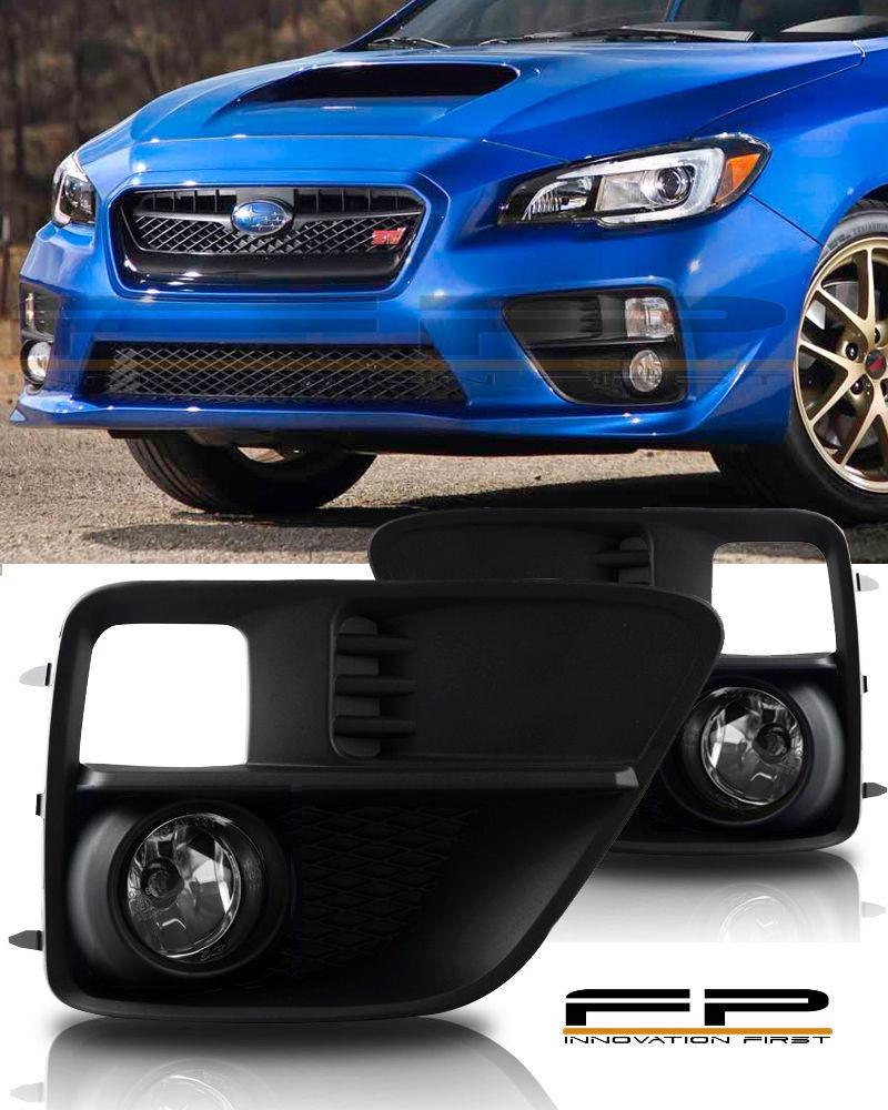 USフォグライト For 2015 Subaru Impreza WRX STi Clear Fog Light Kit Wiring Switch Complete Kit 2015年スバルインプレッサWRX STiクリアフォグライトキット配線スイッチ完成キット